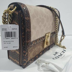 Coach Hutton Signature Block Bag $495 NEW W/TAGS
